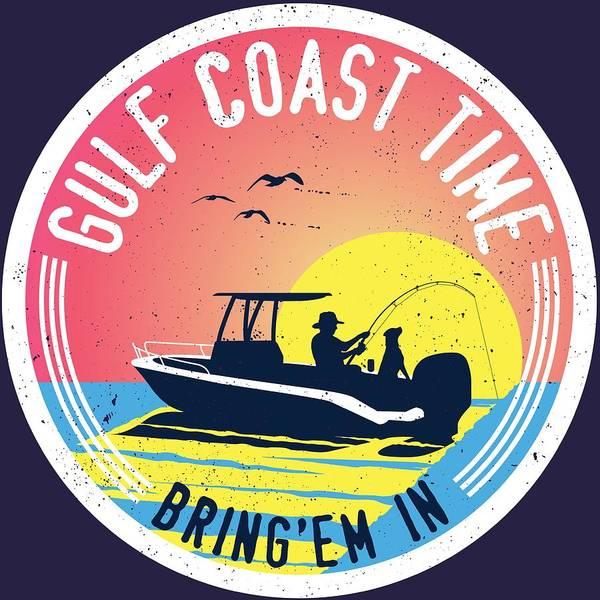 Gulf Digital Art - Gulf Coast Time by Kevin Putman