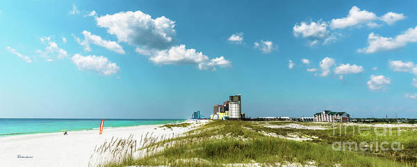Photograph - Gulf Shores Al Beach Seascape 1610a by Ricardos Creations