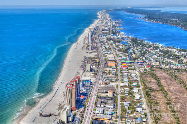 Photograph - Gulf Shores Beach Looking W by Gulf Coast Aerials -