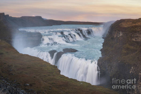 Photograph - Gullfoss Sunset by Michael Ver Sprill