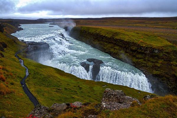 Photograph - Gullfoss Waterfall #2 - Iceland by Stuart Litoff