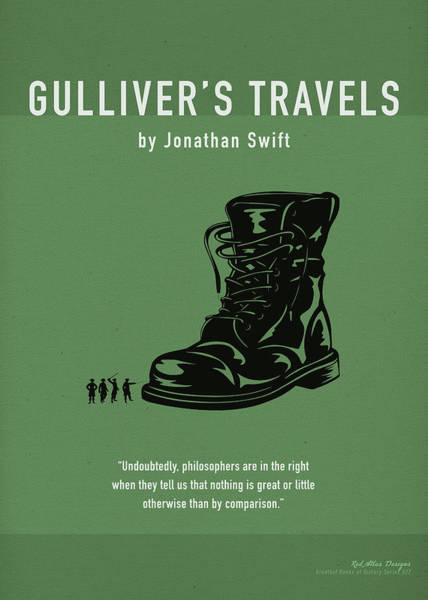 Wall Art - Mixed Media - Gullivers Travels By Jonathan Swift Greatest Books Series 027 by Design Turnpike