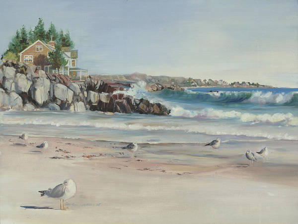 Painting - Gulls At Rest by P Anthony Visco