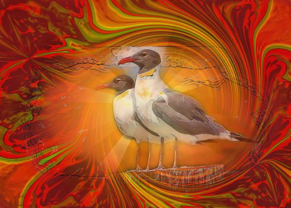 Photograph - Gulls Caught In Art Life by John M Bailey