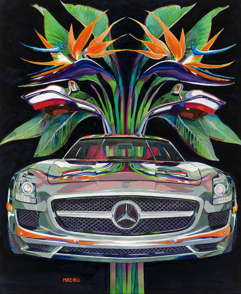 Wall Art - Painting - Gullwing Birds Of Paradise by Mike Hill