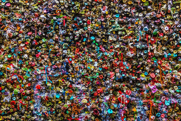 Chewing Wall Art - Photograph - Gum Wall by Garry Gay