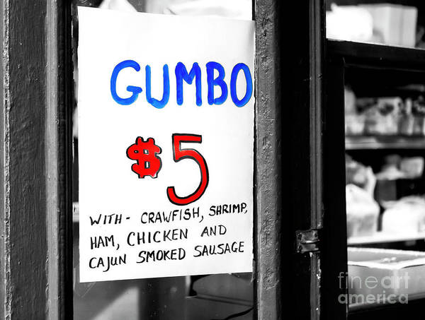 Photograph - Gumbo Fusion New Orleans by John Rizzuto