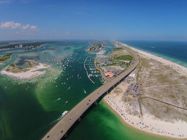 Photograph - Gumbo Key All Area  With Bridge And Gulf by Michael Thomas