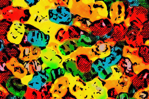 Digital Art - Gummy Bears Halftone Abstract by SR Green