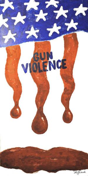 Swan Boats Digital Art - Gun Violence by Michael Fencik