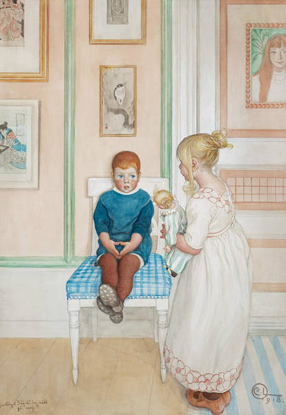 Painting - Gunlog by Carl Larsson