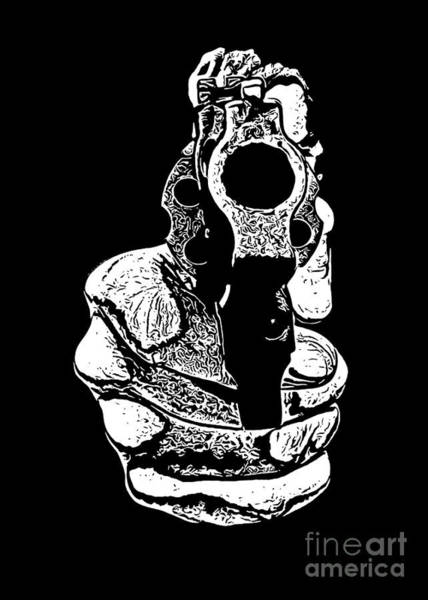 Revolver Photograph - Gunman T-shirt by Edward Fielding