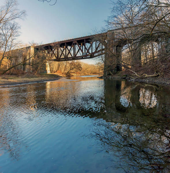 Wall Art - Photograph - Gunpowder Falls Train Bridge - Pano by Brian Wallace