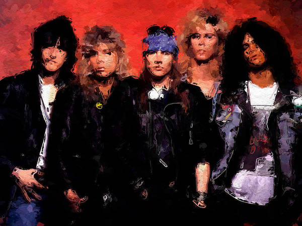 Guns And Roses Painting - Guns And Roses by Queso Espinosa