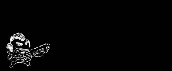 Black Digital Art - Gunslugs by Maye Loeser