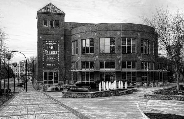 Photograph - Gunter Theater At The Peace Center, Greenville South Carolina In Black And White by Carol Montoya
