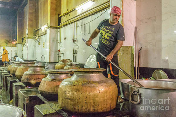 Photograph - Gurdwara Bangla Sahib Langar 10 by Werner Padarin