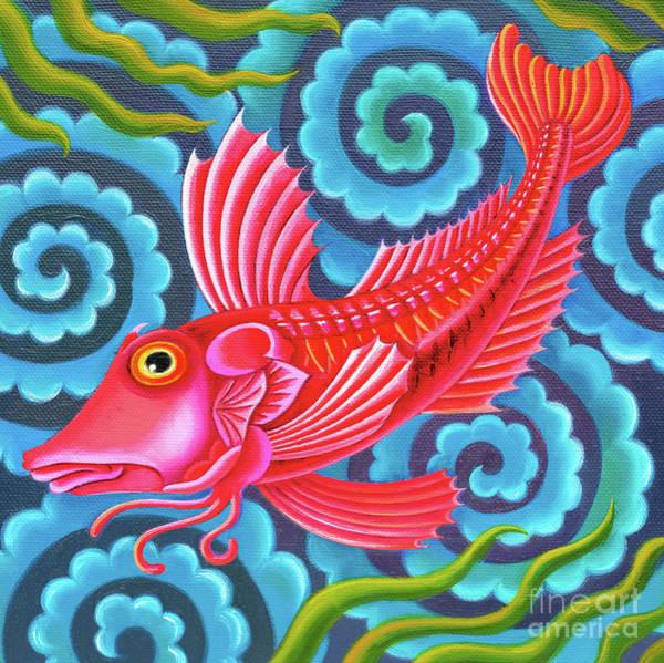 Wall Art - Painting - Gurnard Fish by Jane Tattersfield
