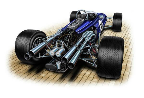 Formula One Digital Art - Gurney Eagle F-1 Car by David Kyte