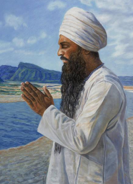 Guru Painting - Guru Ram Das by Gurukirn Khalsa