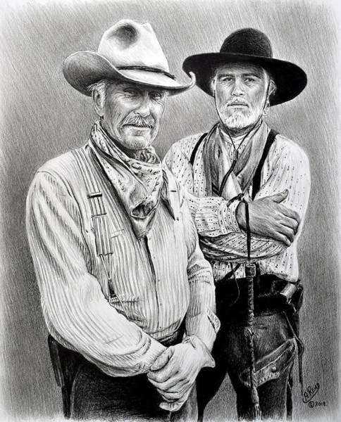 Gus Wall Art - Drawing - Gus And Woodrow by Andrew Read