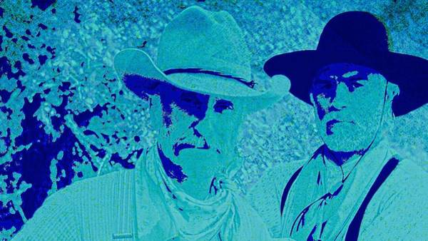 Gus Wall Art - Digital Art - Gus And Woodrow by Brian Broadway