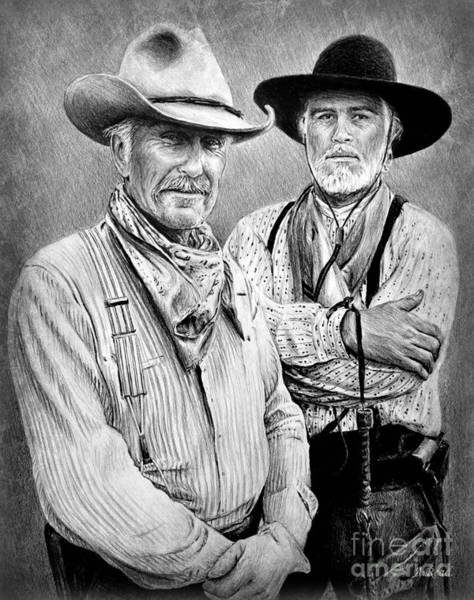 Gus Wall Art - Drawing - Gus Mccrae And Woodrow F Call Edit 2 by Andrew Read