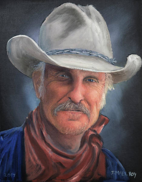 Gus Wall Art - Painting - Gus Mccrae by Jerry McElroy