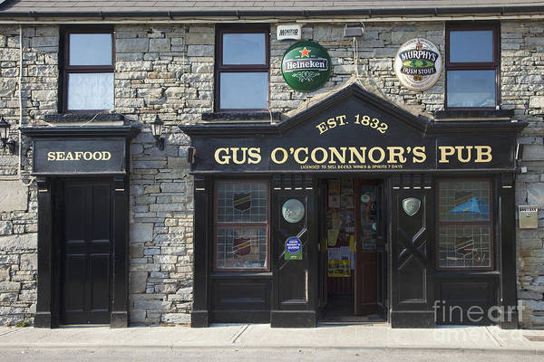 Gus Photograph - Gus O'connor's Pub, Doolin, County Clare, Ireland by Peter Barritt