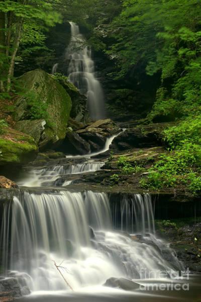 Triple Falls Photograph - Gushing Ozone Falls by Adam Jewell