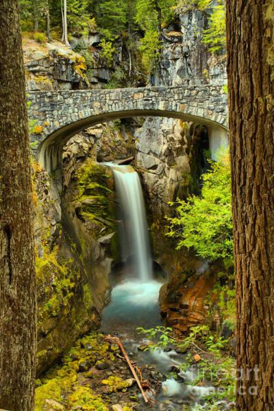 Photograph - Gushing Under The Stone Bridge by Adam Jewell