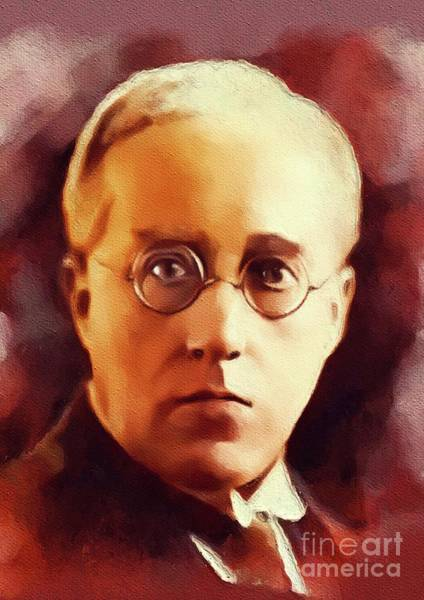 Wall Art - Painting - Gustav Holst, Famous Composer by John Springfield