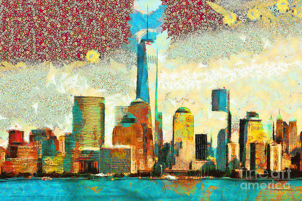 Photograph - Gustav Klimt Does One World Trade Center Lower Manhatten New York Skyline 20180511 by Wingsdomain Art and Photography
