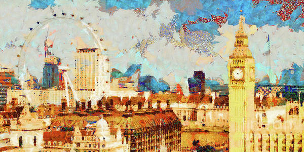 Photograph - Gustav Klimt Does Palace Of Westminster House Of Parliament London England 20180511 Panorama by Wingsdomain Art and Photography