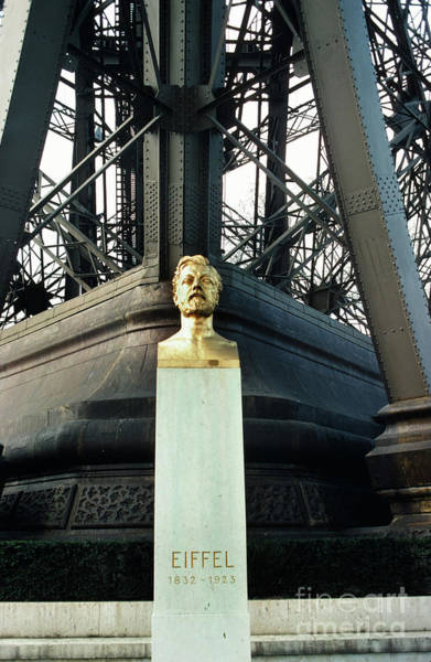 Photograph - Gustave Eiffel, Eiffel Tower - La Tour Eiffe, Paris, France 1978 by California Views Archives Mr Pat Hathaway Archives