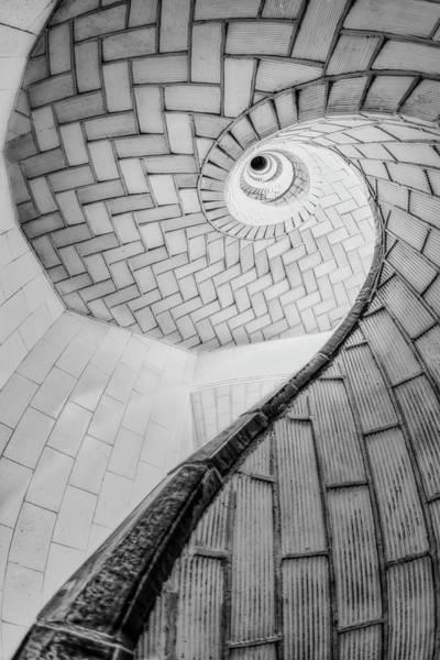 Photograph - Gustavino Tiles Spiral Staircase by Susan Candelario