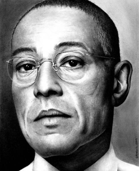 Gus Wall Art - Drawing - Gustavo Fring  by Rick Fortson