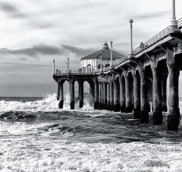 Photograph - Gusty Pier By Mike-hope by Michael Hope