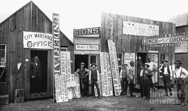 Photograph - Guthrie, Oklahoma, 1889 by Granger
