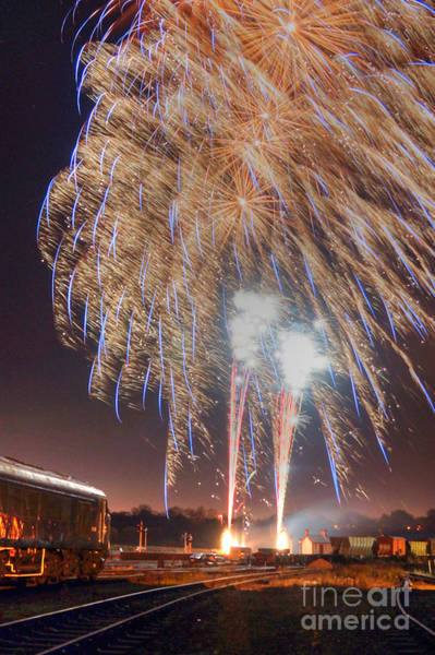Photograph - Guy Fawkes Night Fireworks by David Birchall