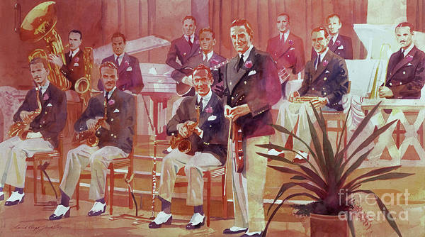 Painting - Guy Lombardo The Royal Canadians by David Lloyd Glover
