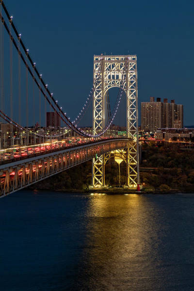 Photograph - Gw Bridge At Twilight by Susan Candelario