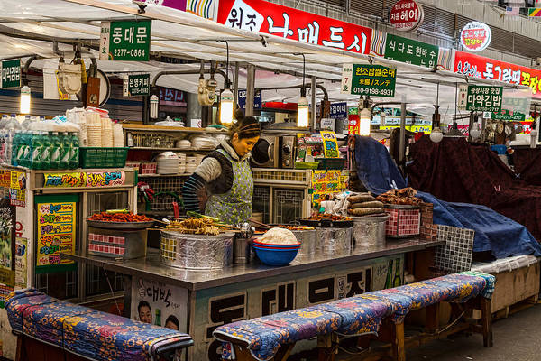 Photograph - Gwangjang Market Food Booth by James BO Insogna