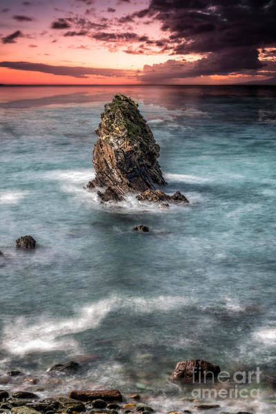 Sea Stacks Wall Art - Photograph - Gwenfaens Sunset by Adrian Evans