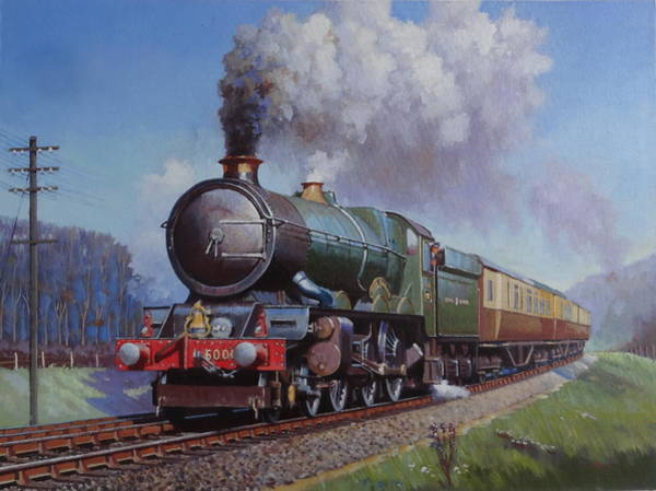 0 Painting - Gwr King On Dainton Bank. by Mike Jeffries