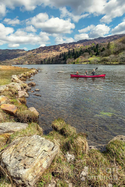 Wall Art - Photograph - Gwynant Lake Canoeing by Adrian Evans