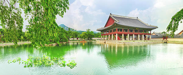 Wall Art - Photograph - Gyeongbokgung Palace. South Korea. Panorama by MotHaiBaPhoto Prints