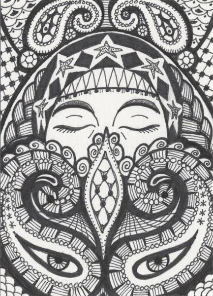 Meditation Drawing - Gypsy by Amy S Turner
