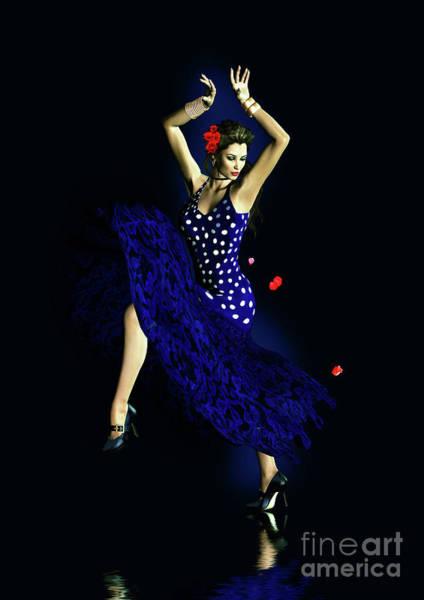 Reflections Digital Art - Gypsy Blue by Shanina Conway