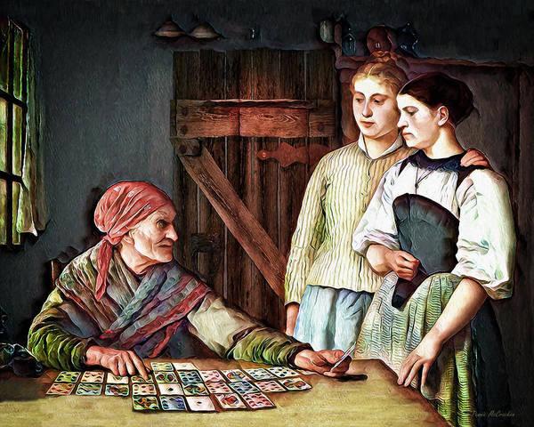 Reader Digital Art - Gypsy Card Reader by Pennie McCracken